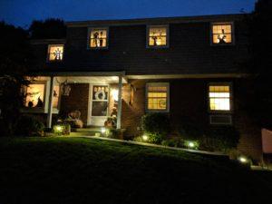 Halloween house tour - window silhouettes