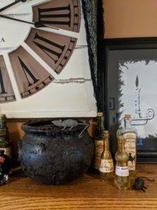 Halloween house tour - cauldron and potions