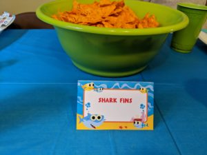 More snacks for Little Man's baby shark party!