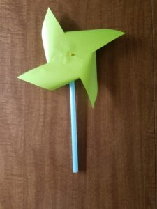Pinwheel that was created during our weather activities this week!
