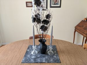 Halloween house tour - spiderweb vase