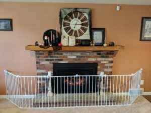Halloween house tour - fireplace decor