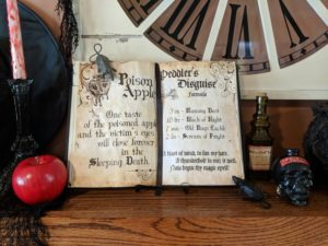 Halloween house tour - spell book and potions