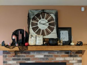 Halloween house tour - mantel decor