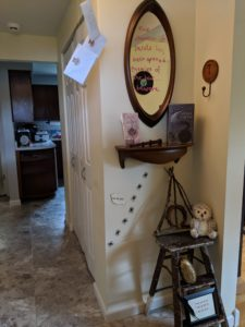Halloween house tour - harry potter entryway decor
