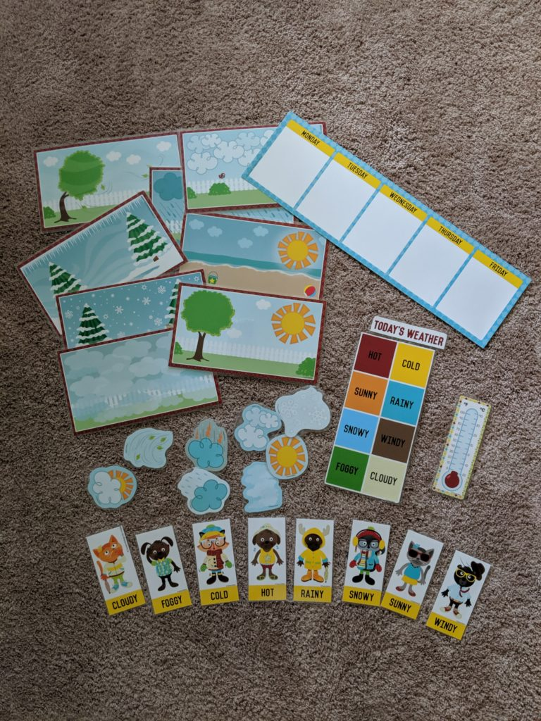 Toddler School Introduction weather bulletin board set.