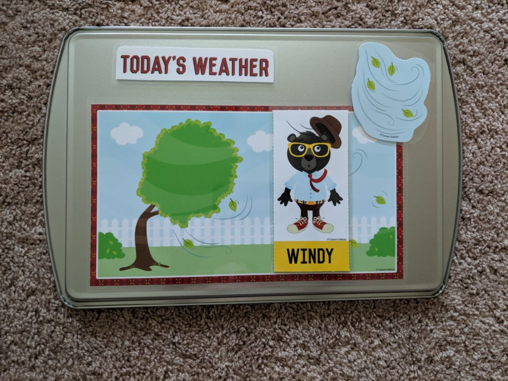 Toddler School Introduction daily weather example.