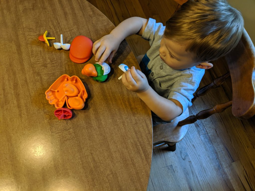 All About Me Activities- Toddler School - Mr. Potato Head Play-Doh