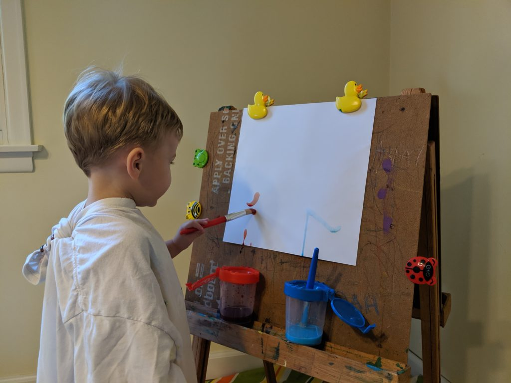 All About Me Activities- Toddler School - Smelly Paint