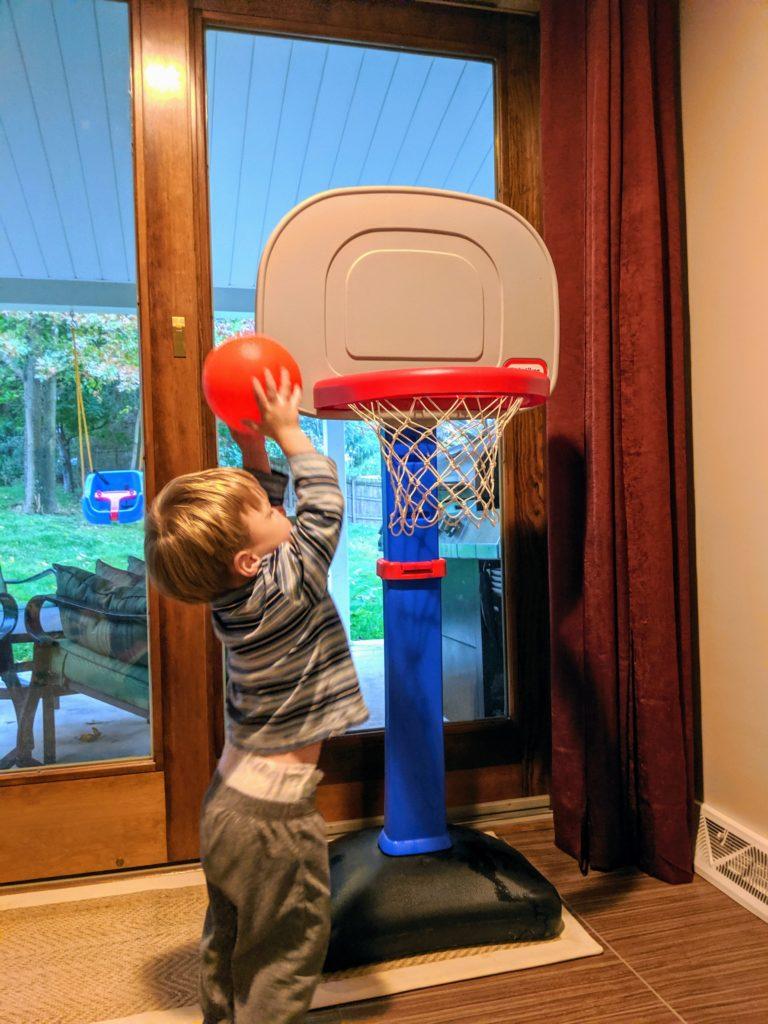 Little Man Playing Basketball
