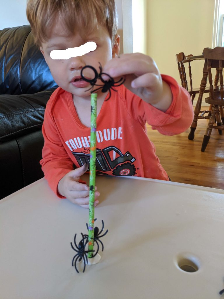 Spider Lacing Halloween Activity