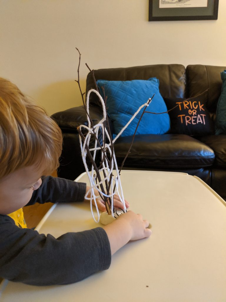 Spider web Halloween Activity