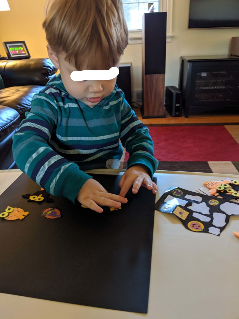 Halloween Sticker Activity