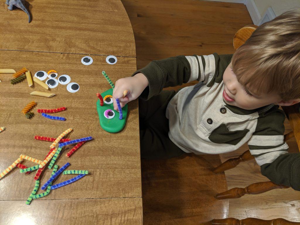 Monster Play-Doh Halloween Activity