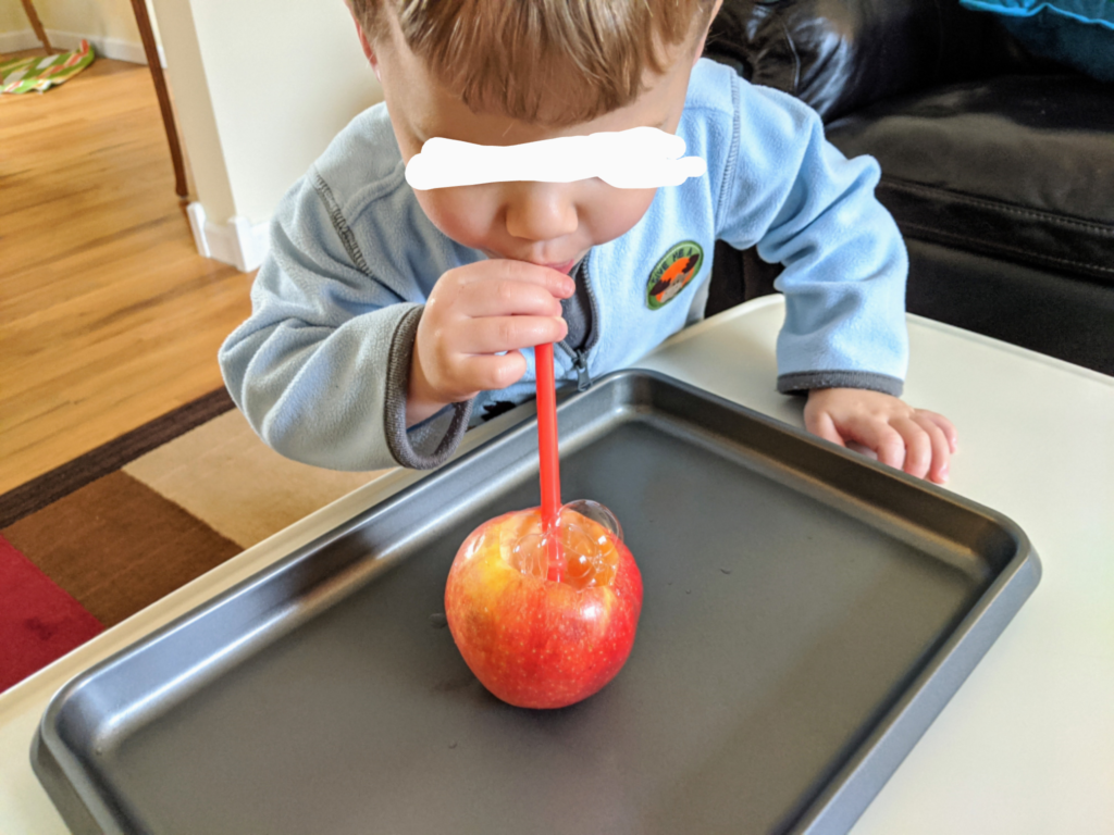 Bubble Blowing Fall Activity