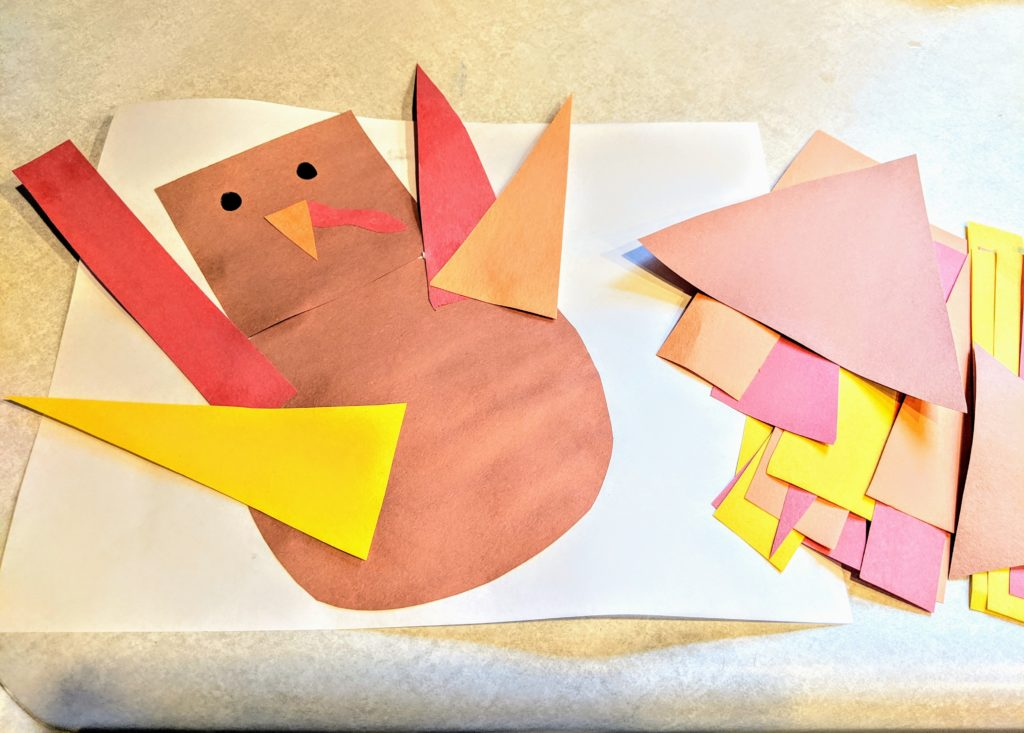 Shape Turkey Thanksgiving Activity