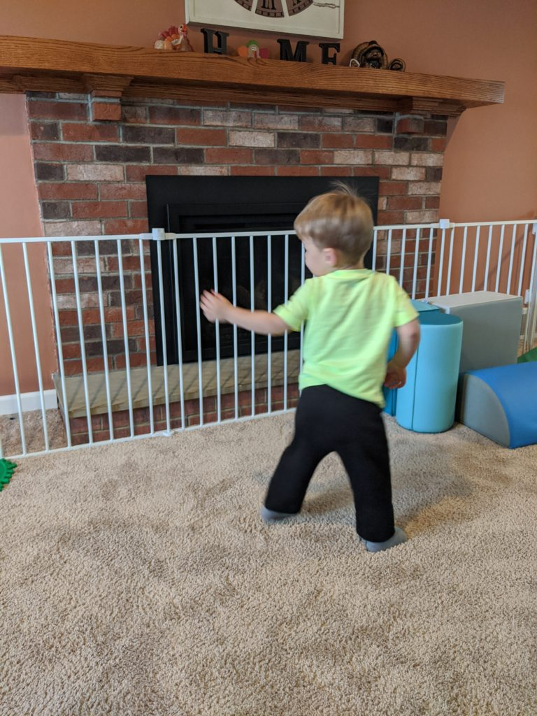 Little Man doing the Turkey Pokey!