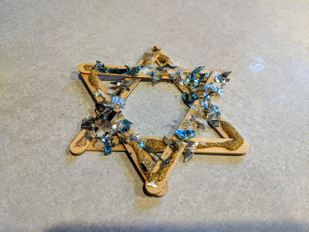 Finished Star of David