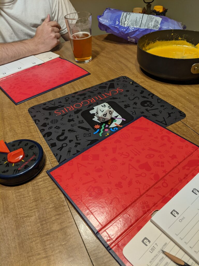 Scattergories for our board game date night!